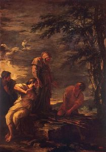 Painting of Democritus (center) and Pythagoras (right), the first Sophist, by Salvator Rosa