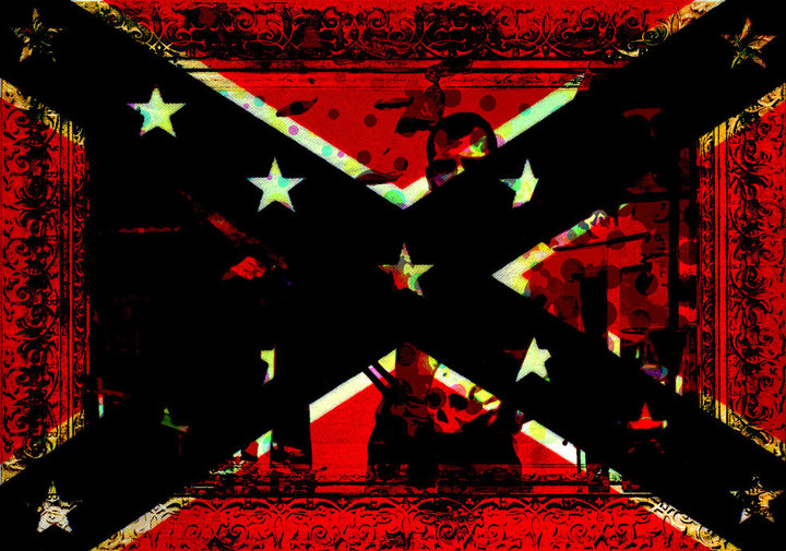 Confederate flag photo illustration