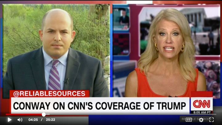 Brian Stelter & Kelly Ann Conway on CNN