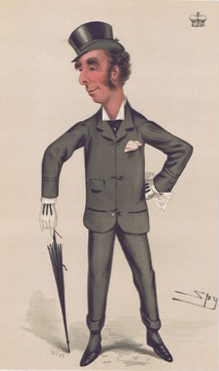 Caricature of the Marquess of Queensberry, namesake of the boxing rules, from Vanity Fair, Nov. 10, 1877 via Wikimedia Commons