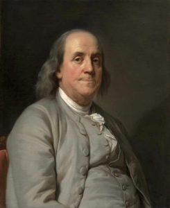 Portrait of Benjamin Franklin by Joseph Duplessis
