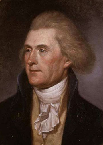 Portrait of Thomas Jefferson by Charles Willson Peale
