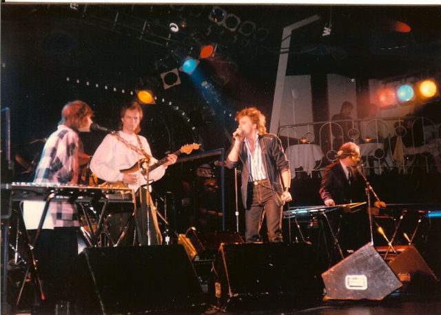 Aceboy at the Diamond Club, Toronto, 1985(?): Tamara Silvera, Michael Spencer-Arscott (drums, hidden), Spencer Critchley, Owen Critchley, John Whynot