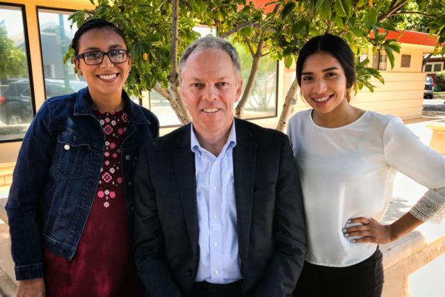 Spencer Critchley & Gonzales (California) Youth Council members Cindy Aguilar (L) & Fabiola Moreno, 2016