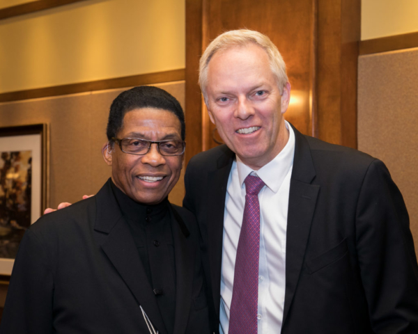 Herbie Hancock and Spencer Critchley, Monterey Jazz Festival awards dinner, Pebble Beach, CA 2017