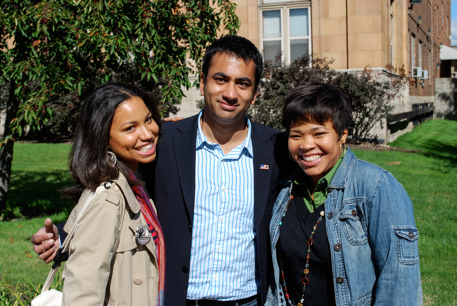 Kal Penn, Obama For America staffers, Detroit, 2008