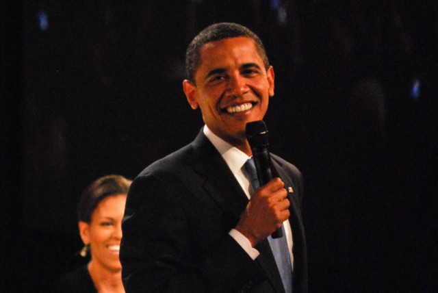 Obamas at OFA Staff Ball, 2008