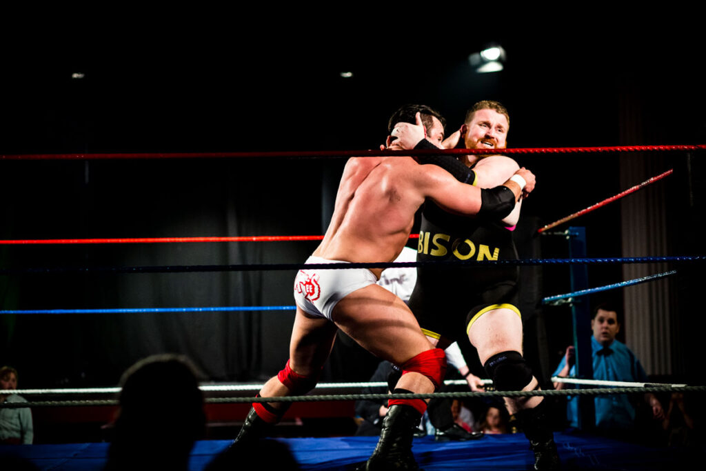 Professional wrestlers in the ring