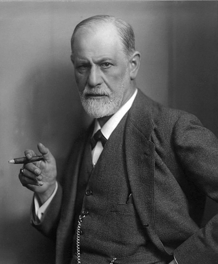 Photo of Sigmund Freud by Max Halberstadt, public domain, via Wikimedia Commons