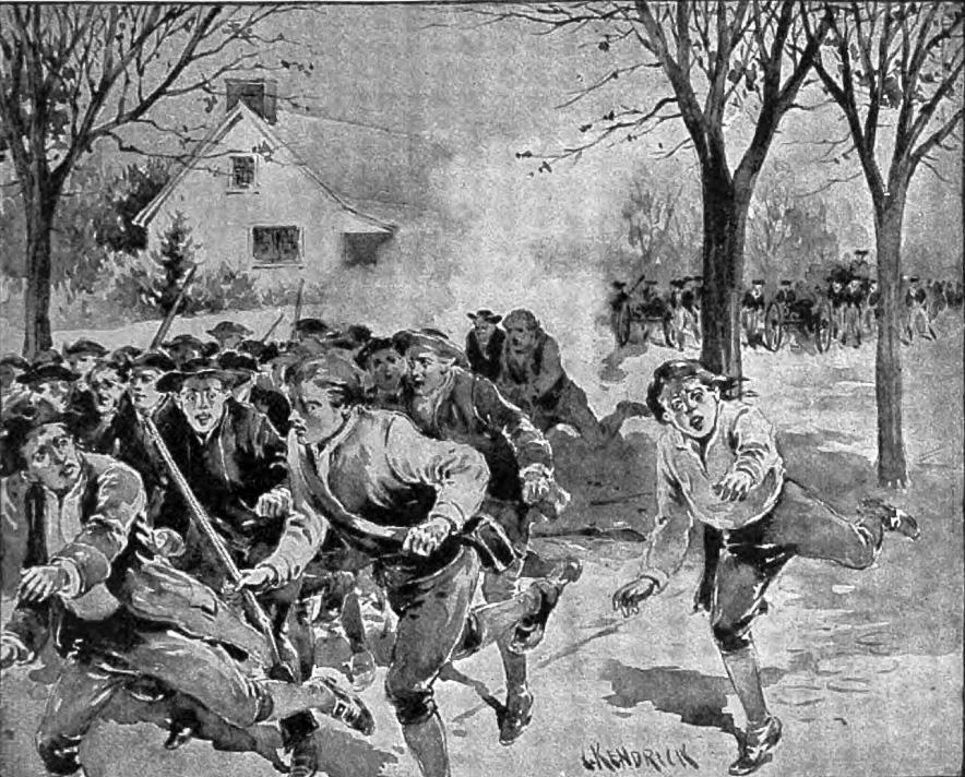 Shays' Rebellion, by C. Kendrick, Public domain, via Wikimedia Commons