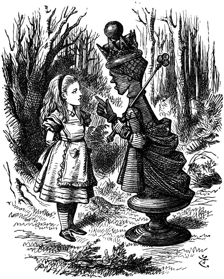 Alice and the Red Queen, in Through the Looking Glass